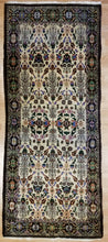 "Load image into Gallery viewer, Handsome Hereke - 1920s Antique Turkish Rug - Floral Design - 3'2"" x 7'1"" ft."