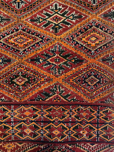 "Maghreb Moroccan - 1920s Antique Tribal Rug - Pre World War 1 - 6'3"" x 11'1"" ft."