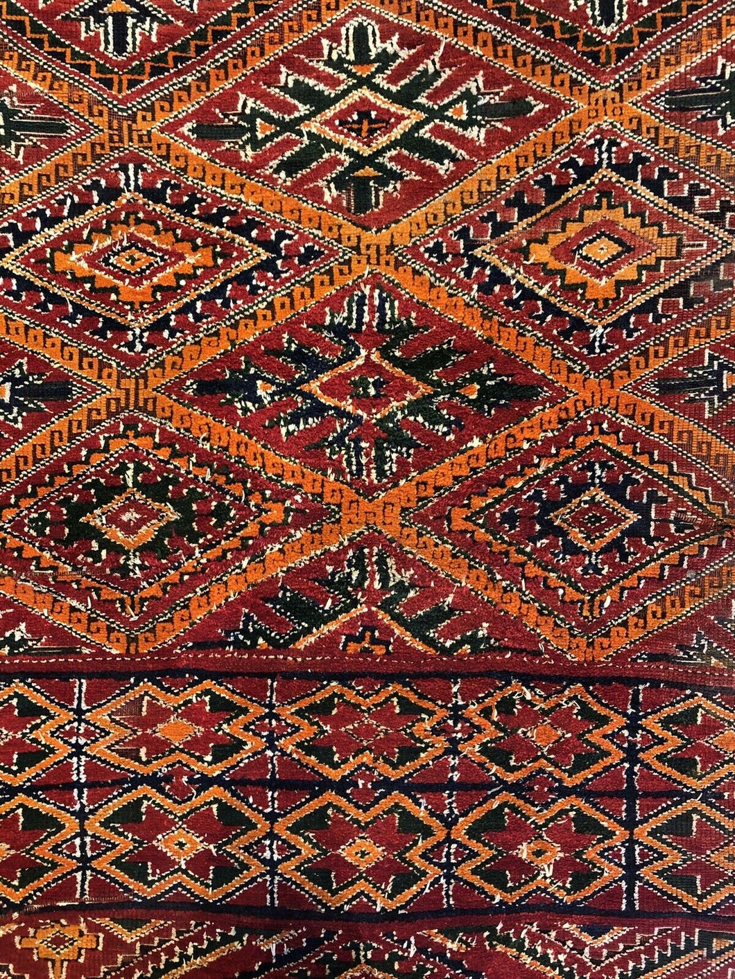 Maghreb Moroccan - 1920s Antique Tribal Rug - Pre World War 1 - 6'3