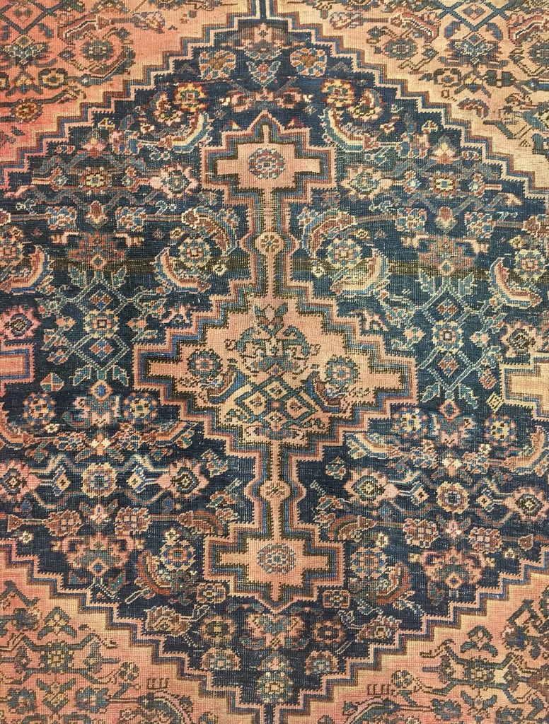 "Tremendous Tribal - 1880s Antique Kurdish Rug - Persian Fragment - 5' x 7'5"" ft"