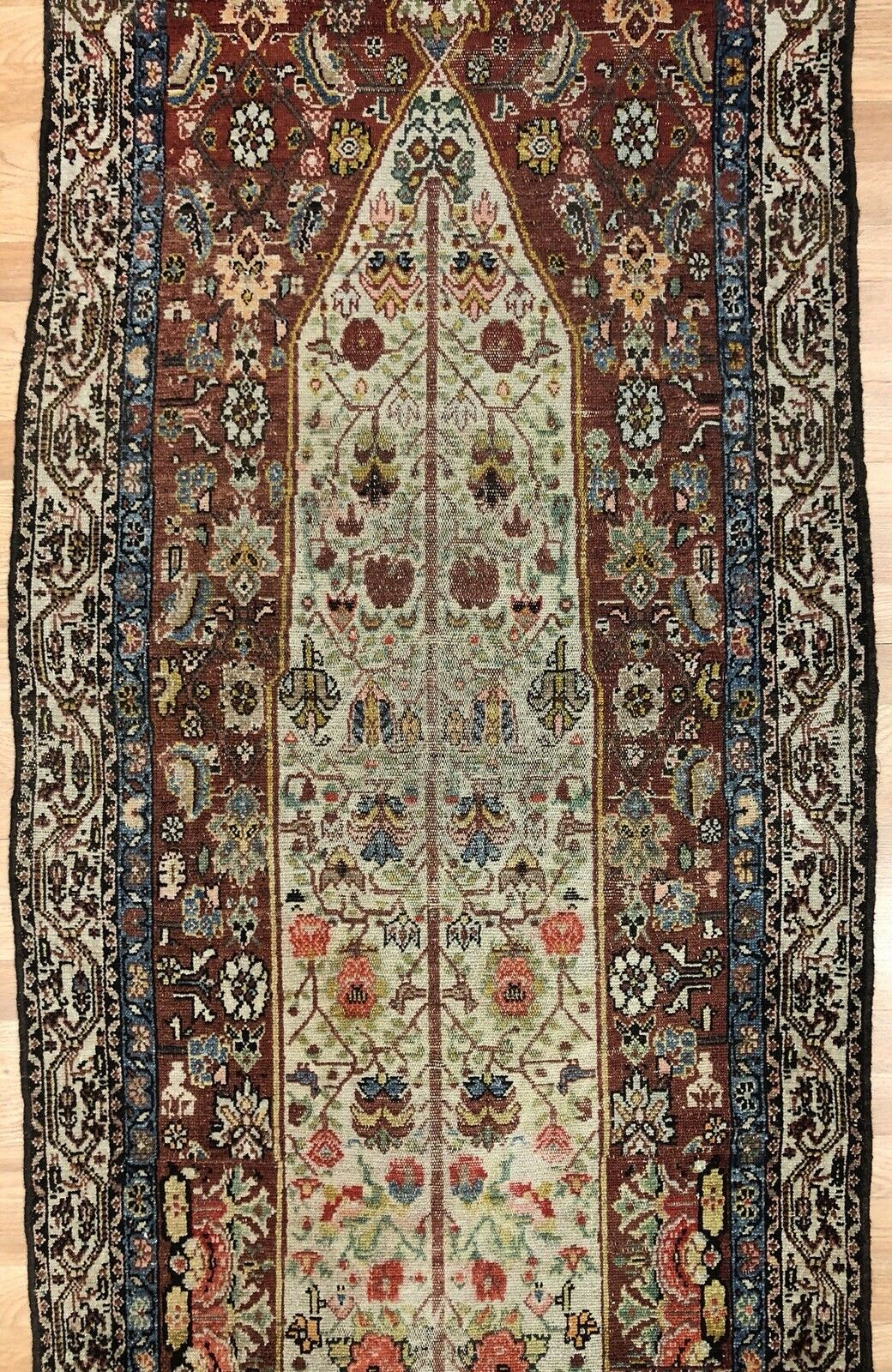 Special Shalamzar - 1890s Antique Bakhtiari Rug - Tribal Carpet - 3' x 11'6