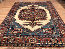 "Load image into Gallery viewer, Amazing Afghan - Colorful Kazak Rug - Tribal Geometric Carpet - 6'5"" x 8'8"" ft."