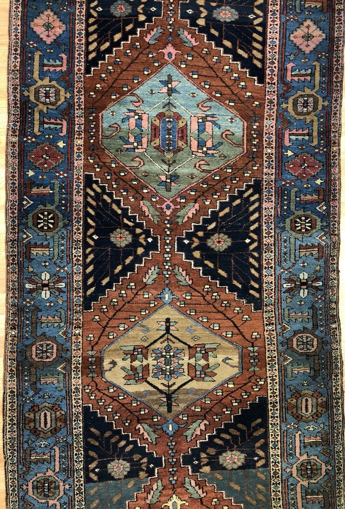"Spectactular Serab - 1900s Antique Persian Rug - Tribal Runner - 3'4"" x 12'3"" ft."