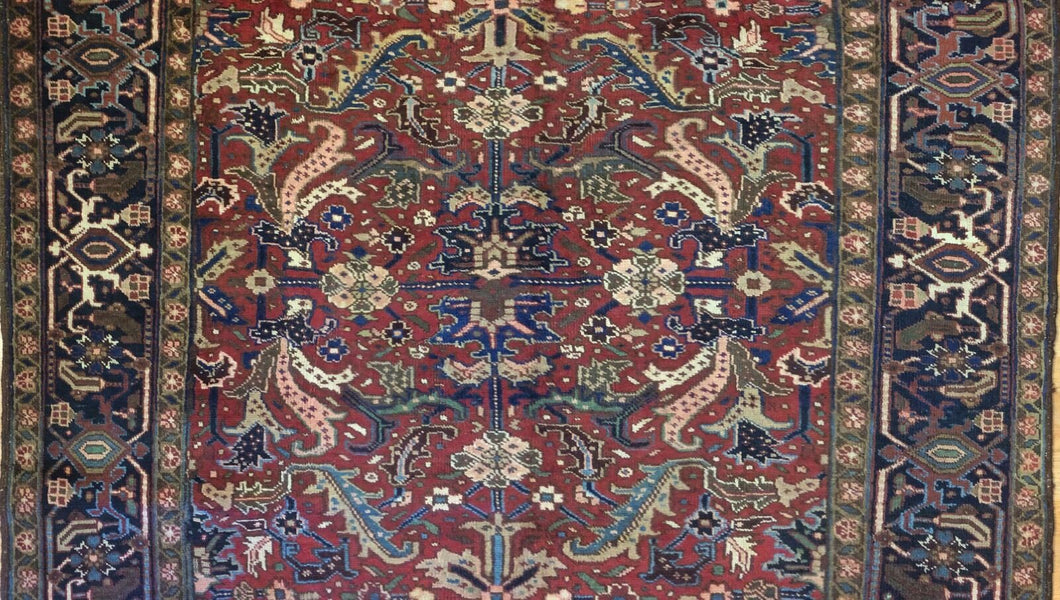 Marvelous Mahal - 1920s Antique Persian Rug - Tribal Carpet - 6'7