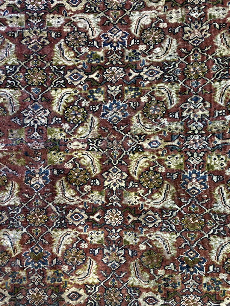 "Marvelousl Mahal - 1910s Antique Persian Rug - Tribal Carpet - 10'8"" x 12'1"" ft."