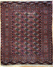 "Load image into Gallery viewer, Vintage Pakistani Rug - Tribal Oriental Carpet - 4'1"" x 5' ft 102640"