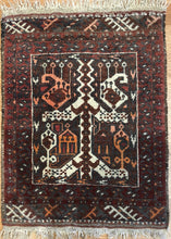 "Load image into Gallery viewer, Tremendous Turkmen - 1960s Vintage Afghan Rug - Tribal Carpet - 1'8"" x 2'3"" ft."