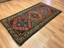 "Load image into Gallery viewer, Lovely Lilihan - 1920s Antique Persian Rug - Tribal Carpet - 3'7"" x 5'10"" ft."