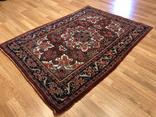 "Load image into Gallery viewer, Gorgeous Gol Farang - 1910s Antique Bijar Rug - Tribal Carpet - 3'7"" x 5'2"" ft."