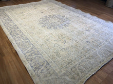 "Load image into Gallery viewer, Outstanding Overdye - 1960s Antique Turkish Rug - Tribal Carpet - 8'8"" x 11'8"" ft."