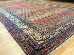 "Spectacular Seraband - 1900s Antique Mir Rug - Tribal Carpet - 6'2"" x 10'9"" ft."
