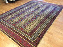 "Load image into Gallery viewer, Beautiful Balouch - 1940s Antique Kurdish Rug - Persian Carpet - 6'1"" x 9'1"" ft."