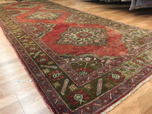 Load image into Gallery viewer, Tremendous Turkish - 1940s Antique Oushak Rug - Tribal Runner - 5' x 12' ft.