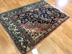 "Whimsical Wagireh - 1910s Antique Kurdish Rug - Persian Koliaei Carpet - 2'2"" x 2'10"" ft."