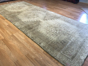 "Oustanding Oushak - 1930s Antique Turkish Rug - Gallery Carpet - 5'2"" x 12'6"" ft."