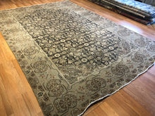"Load image into Gallery viewer, Opulent Oushak - 1900s Vintage Turkish Rug - Tribal Carpet - 8' x 11'6"" ft."