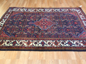 "Marvelous Malayer - 1930s Antique Persian Rug - Tribal Carpet - 4'6"" x 6'9"" ft."