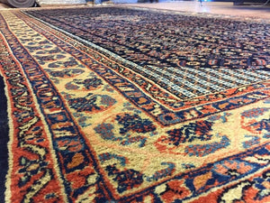 "Quality Qazvin - 1920s Antique Persian Rug - Gallery Carpet - 6' x 12'2"" ft."