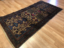 "Load image into Gallery viewer, Special Serab - 1920s Antique Camel Hair Rug - Tribal Carpet - 3'4"" x 6'1"" ft."