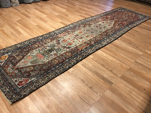 "Special Shalamzar - 1890s Antique Bakhtiari Rug - Tribal Carpet - 3' x 11'6"" ft."