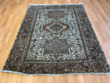 "Load image into Gallery viewer, Handsome Heriz - 1930s Antique Karaja Rug - Persian Tribal Carpet - 5' x 6'3"" ft."