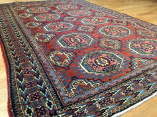 "Load image into Gallery viewer, Tremendous Tekke Gul - 1920s Antique Oriental Turkmen - Yamout Rug - 4'3"" x 6'6"" ft."