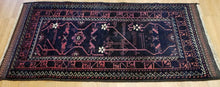 "Load image into Gallery viewer, Beautiful Balouch - 1940s Antique Persian Rug - Tribal Carpet - 2'8"" x 5'4"" ft."