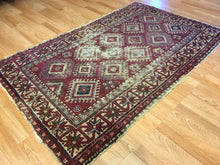 "Load image into Gallery viewer, Tremendous Turkish - 1900s Antique Tribal Rug - Oriental Carpet - 3'10"" x 6' ft."