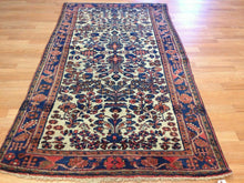 "Load image into Gallery viewer, Lovely Lilihan - 1920s Antique Sarouk Rug - Floral Carpet - 3'8"" x 6'7"" ft."