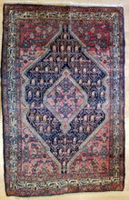 "Load image into Gallery viewer, Spectacular Senneh - 1920s Antique Oriental Rug - Nomadic Carpet - 3'9"" x 6' ft."