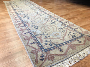 "Amazing Arts and Crafts - Modern Indian Rug - Contemporary Carpet - 3' x 10'7"" ft."