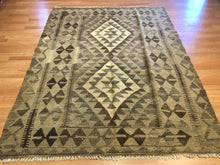 "Load image into Gallery viewer, Amazing Afghani - New Kilim Rug - Flatweave Tribal Carpet - 5'2"" x 6'10"" ft."