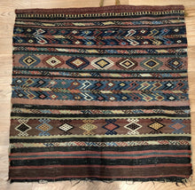 "Load image into Gallery viewer, Special Shahsavan - 1900s Antique Kurdish Bag Face - Oriental Rug - 2'9"" x 2'9"" ft"