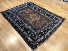 "Load image into Gallery viewer, Quality Quba - 1890s Antique Caucasian Rug - Tribal Kazak Carpet - 4' x 5'4"" ft."