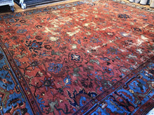 "Load image into Gallery viewer, Magnificent Mahal - 1890s Antique Persian Rug - Tribal Carpet - 12'9"" x 15'7"" ft."