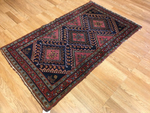"Marvelous Malayer - 1930s Antique Persian Rug - Tribal Carpet - 2'6"" x 4' ft."