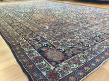 "Load image into Gallery viewer, Kingly Kermanshah - 1870s Antique Persian Rug - Oriental Carpet - 8'9"" x 14'7"" ft."