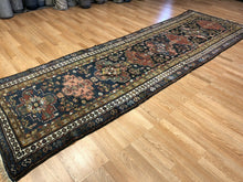 "Load image into Gallery viewer, Tremendous Tribal - 1900s Antique Kurdish Rug - Persian Runner - 3'9"" x 12' ft."
