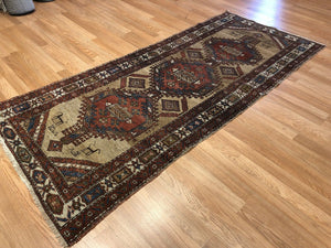 "Special Serab - 1910s Antique Persian Rug - Camel Hair Runner - 2'11"" x 6'10"" ft."