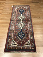 Load image into Gallery viewer, Sensational Shiraz - 1940s Antique Persian Rug - Tribal Carpet - 2' x 5' ft.