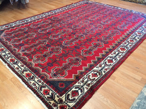 "Marvelous Malayer - 1930s Antique Persian Rug - Tribal Carpet - 7'4"" x 10'5"" ft."