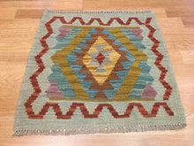 "Load image into Gallery viewer, Crisp Colorful - New Kilim Rug - Flatweave Tribal Carpet - 1'9"" x 1'10"" ft."