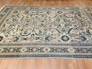 "Marvelous Mahal - 1900s Antique Persian Rug - Tribal Carpet - 6'7"" x 9'9"" ft."