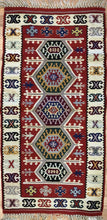 "Load image into Gallery viewer, Beautiful Bessarabian - 1960s Antique Romanian Kilim - Tribal Rug - 2' x 3'10"" ft."