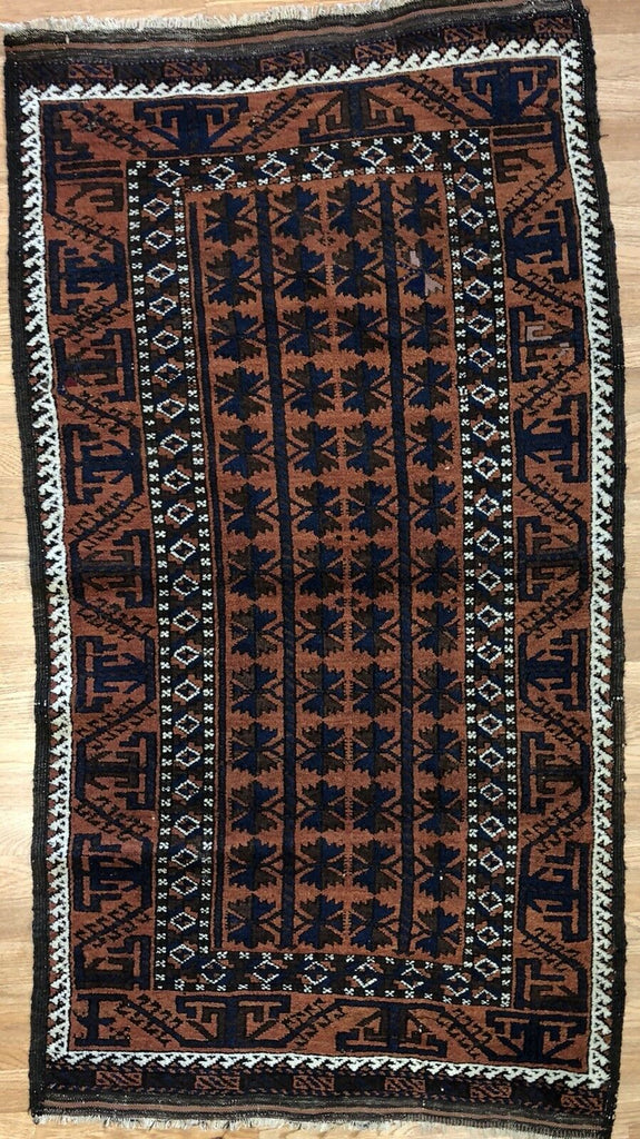 "Beautiful Balouch - 1930s Antique Persian Rug - Tribal Carpet - 3' x 5'6"" ft."