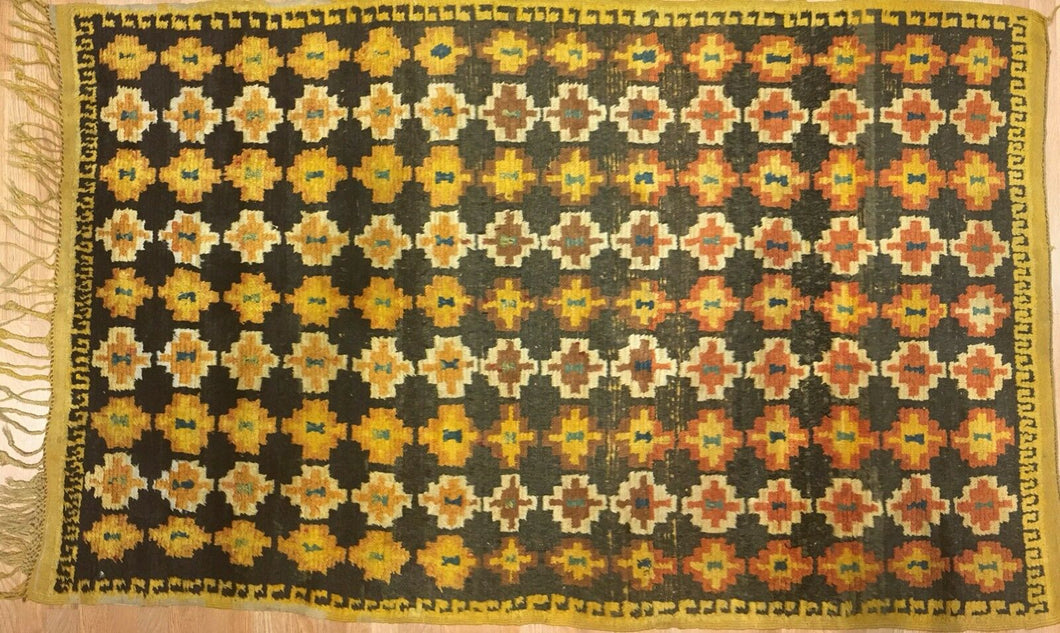 Marvelous Moroccan - 1940s Antique Tribal Rug - Colorful Carpet - 4'8