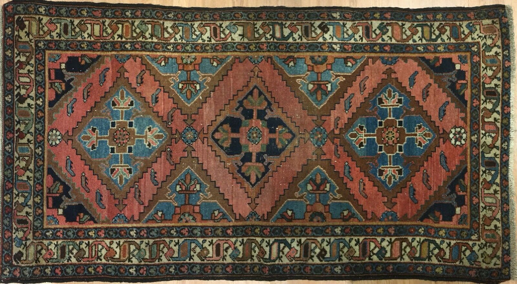 Lovely Lilihan - 1920s Antique Persian Rug - Tribal Carpet - 3'7