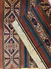 "Load image into Gallery viewer, Special Sumak - 1940s Antique Kilim Rug - Afghan Tribal Flatweave - 2'1"" x 3'8"" ft"