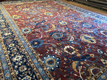 Load image into Gallery viewer, Amazing Afghan - Floral Super Peshawar Rug - Transitional Carpet - 12' x 18' ft.