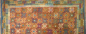 "Crisp Colorful - New Kilim Rug - Flatweave Tribal Carpet - 8'4"" x 11'8"" ft."
